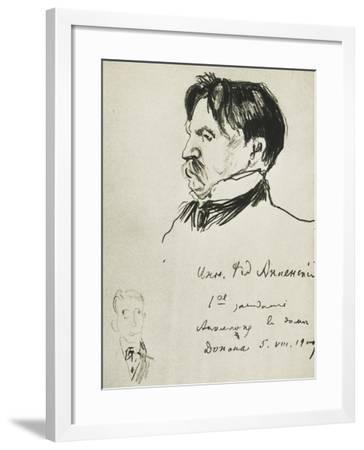 Portrait of Innokenty Fedorovich Annenskij--Framed Giclee Print