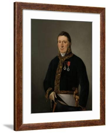 Portrait of Inspector-General A.F. Goudriaan-Izaak Schouman-Framed Art Print
