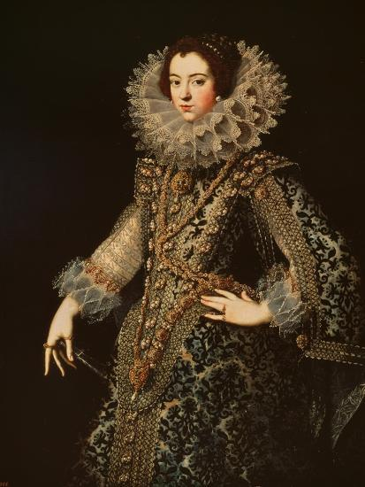 Portrait of Isabel of Bourbon--Giclee Print