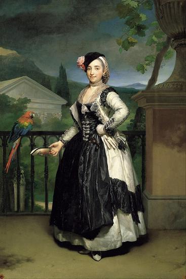 Portrait of Isabel Parreno Arce Ruiz De Alarcon Y Valdés, Marchioness of Llano-Anton Raphael Mengs-Giclee Print