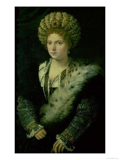 Portrait of Isabella D'Este (1474-1539)-Titian (Tiziano Vecelli)-Giclee Print