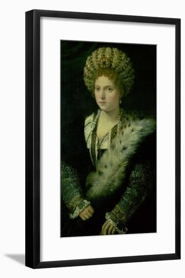Portrait of Isabella D'Este (1474-1539)-Titian (Tiziano Vecelli)-Framed Giclee Print