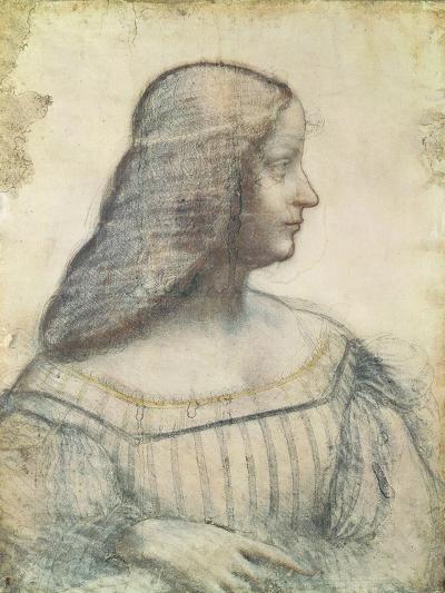 Portrait of Isabella D'Este (1474-1539)-Leonardo da Vinci-Premium Giclee Print