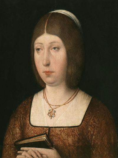 Portrait of Isabella 'The Catholic', Queen of Castile, c.1490-Flemish School-Giclee Print