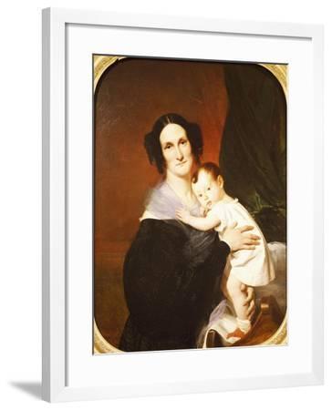 Portrait of Italian Operatic Singer Teresa Pinotti--Framed Giclee Print
