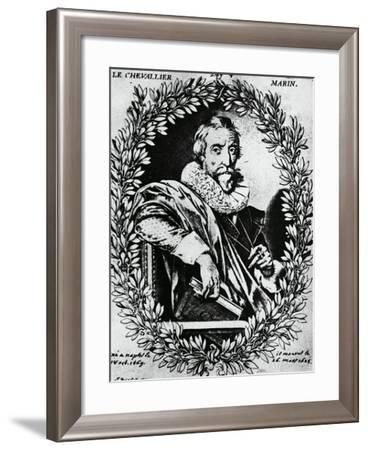 Portrait of Italian Poet, Giovan Battista Marino--Framed Giclee Print