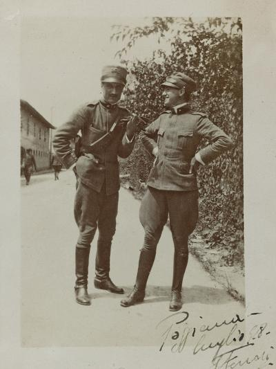 Portrait of Italian Soldiers--Photographic Print