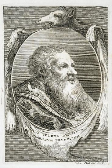 Portrait of Italian Writer, Poet and Scriptwriter Pietro Aretino by Giuseppe Patrini,--Giclee Print