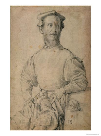 Portrait of Jacopo Pontormo-Agnolo Bronzino-Giclee Print