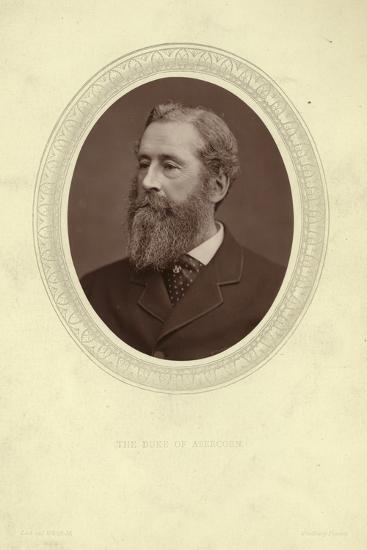 Portrait of James Hamilton, Duke of Abercorn--Photographic Print
