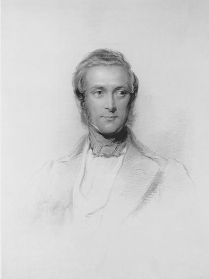Portrait of James Ramsay, 10th Earl and 1st Marquess of Dalhousie-George Richmond-Giclee Print
