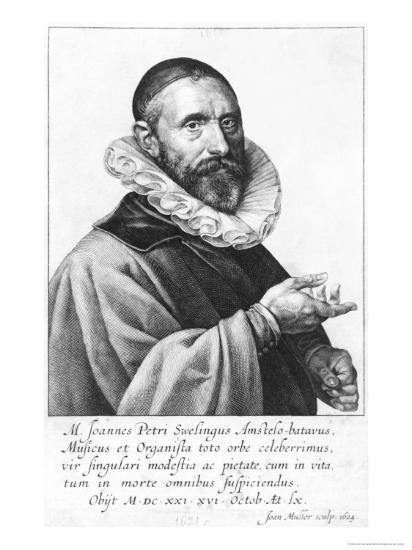 Portrait of Jan Pieterszoon Sweelinck, 1624-Jan Harmensz Muller-Giclee Print