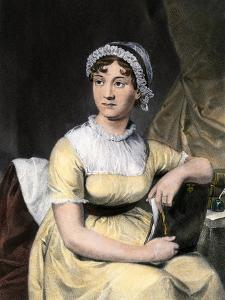 Portrait of Jane Austin, English Novelist