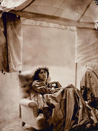 Portrait of Jane Morris (1839-1914) 1865 (Albumen Print)-John R. Parsons-Giclee Print