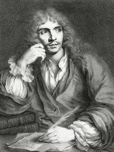 Portrait of Jean-Baptiste Poquelin, known as Moliere,--Giclee Print