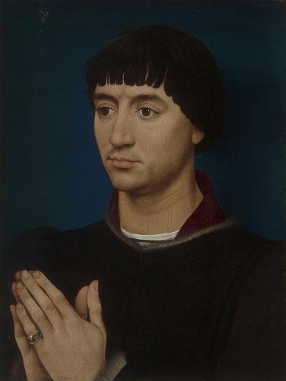 Portrait of Jean Gros, 1460-64-Rogier van der Weyden-Giclee Print