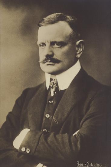 Portrait of Jean Sibelius--Photographic Print