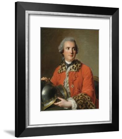 Portrait Of Jean Victor De Rochechouart, 1756-Jean-Marc Nattier-Framed Premium Giclee Print