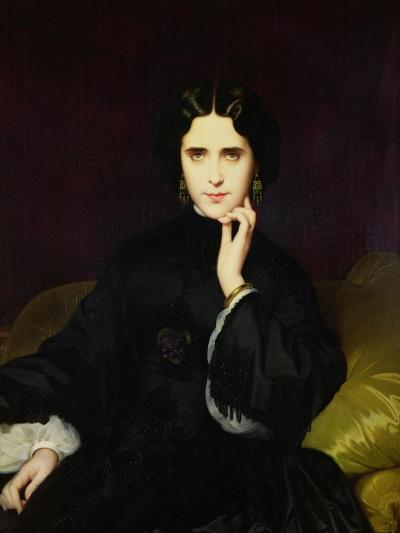 Portrait of Jeanne De Tourbay (1837-1908) 1862-Eugene Emmanuel Amaury-Duval-Giclee Print