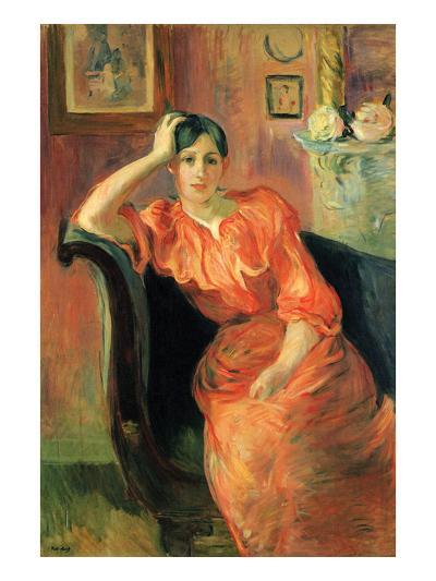 Portrait of Jeanne Pontillon-Berthe Morisot-Art Print