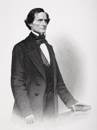 Portrait of Jefferson Davis-Mathew Brady-Giclee Print