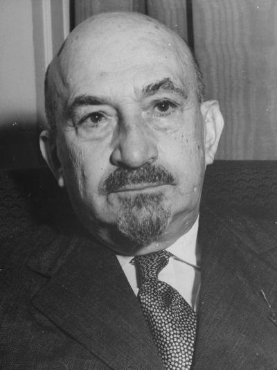 Portrait of Jewish Rabbi, Religious Leader, and Future President of Israel Dr. Chaim Weizmann--Photographic Print