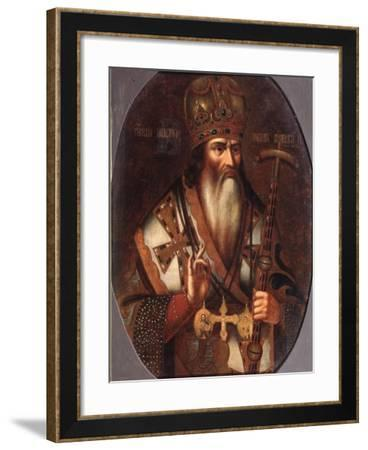 Portrait of Joachim, Patriarch of Moscow (1674-169), End of 17th C--Framed Giclee Print