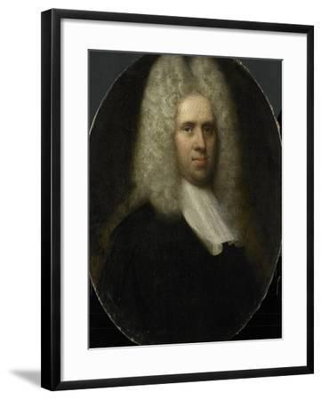 Portrait of Johan Arnold Zoutman, Husband of Anna Margaretha Van Petcum--Framed Art Print