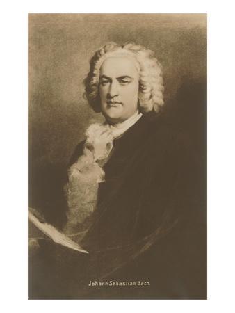 Portrait of Johann Sebastian Bach--Art Print
