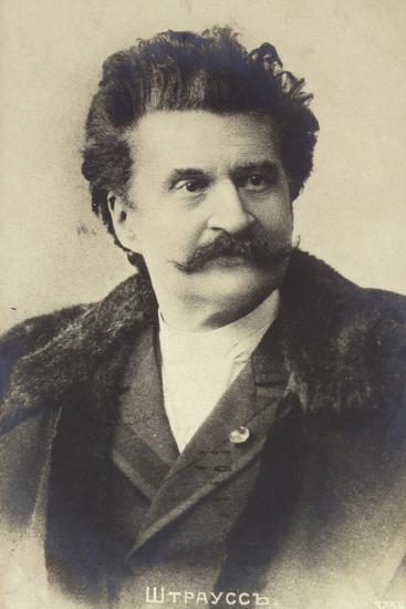 Portrait of Johann Strauss II--Photographic Print