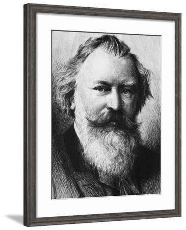 Portrait of Johannes Brahms--Framed Giclee Print
