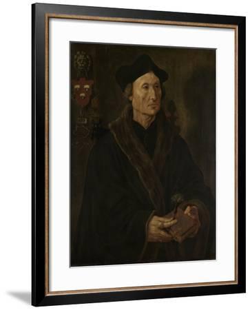 Portrait of Johannes Colmannus, Rector of the Convent of St. Agatha at Delft-Maarten van Heemskerck-Framed Art Print