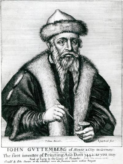 Portrait of Johannes Gutenberg--Giclee Print
