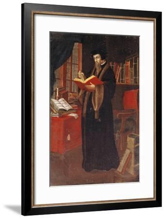 Portrait of John Calvin (1509-64), French Theologian and Reformer--Framed Giclee Print