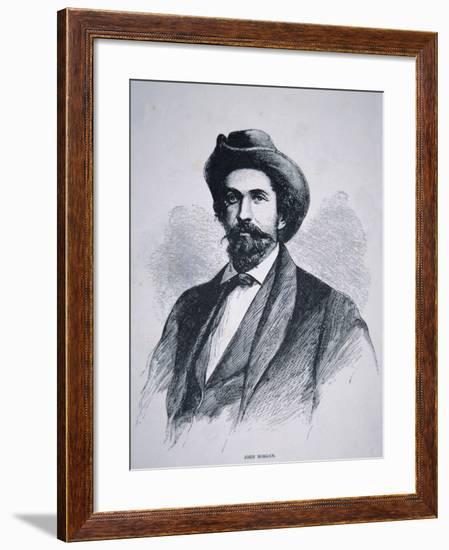 Portrait of John Hunt Morgan--Framed Giclee Print