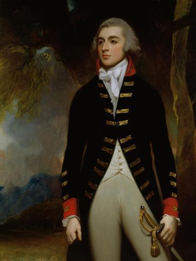 Portrait of John Richard West (1758-95) 4th Earl De La Warr, 1790-George Romney-Giclee Print