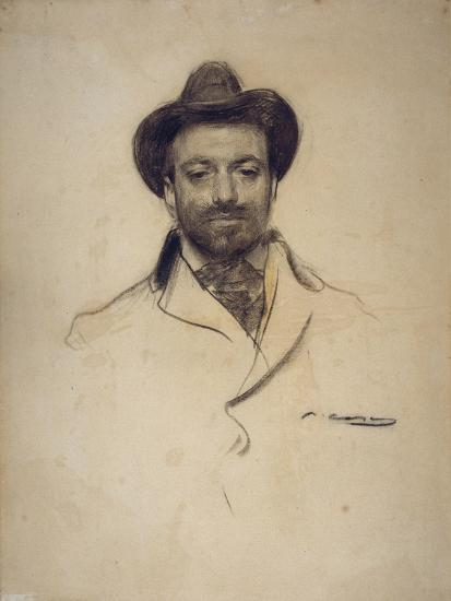 Portrait of Josep Maria Sert (1874-194)-Ramon Casas-Giclee Print