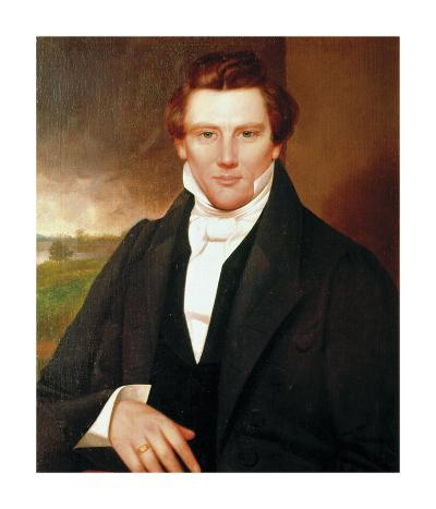 Portrait of Joseph Smith-19th Century American School?-Premium Giclee Print