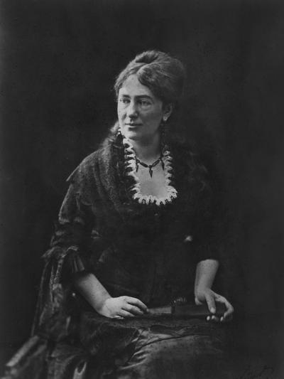 Portrait of Juliette Adam-Nadar-Photographic Print