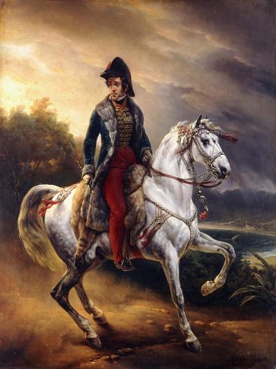 Portrait of Justo Machado Y Salcedo, Spanish Consul in Paris on Horseback, 1821-Horace Vernet-Giclee Print
