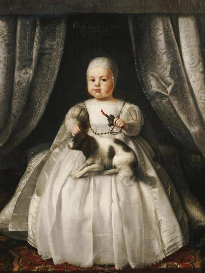 Portrait of King Charles II as a Child, French School, circa 1630--Giclee Print