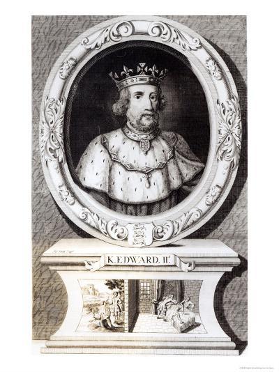 Portrait of King Edward II--Giclee Print