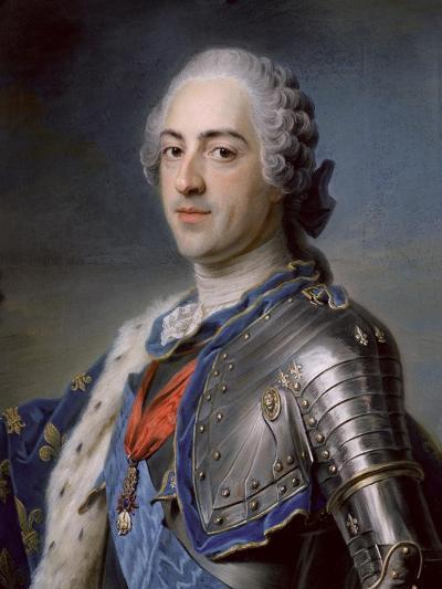 Portrait of King Louis XV 1748-Maurice Quentin de La Tour-Giclee Print