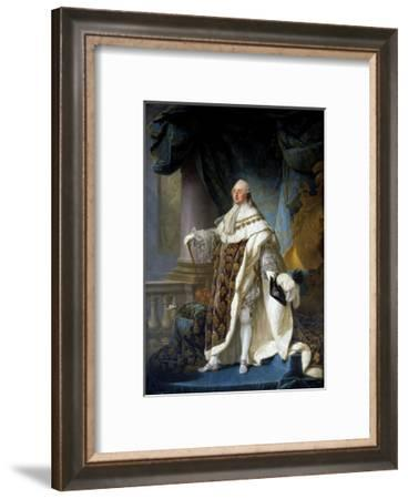 Portrait of King Louis XVI by Antoine-Francois Callet--Framed Giclee Print