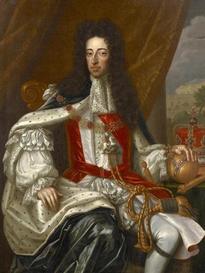 Portrait of King William III-Frans van Stampart-Giclee Print