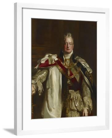 Portrait of King William Iv, Wearing the Robes of the Garter, C.1831-Sir David Wilkie-Framed Giclee Print