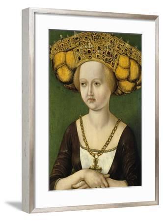 Portrait of Kunigunde of Austria (1465-152), Ca 1485--Framed Giclee Print