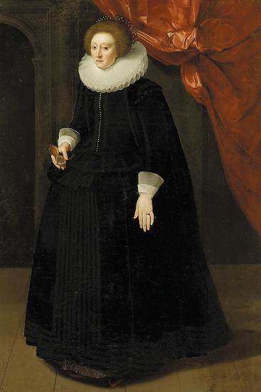 Portrait of Lady Harbord, C.1630--Giclee Print
