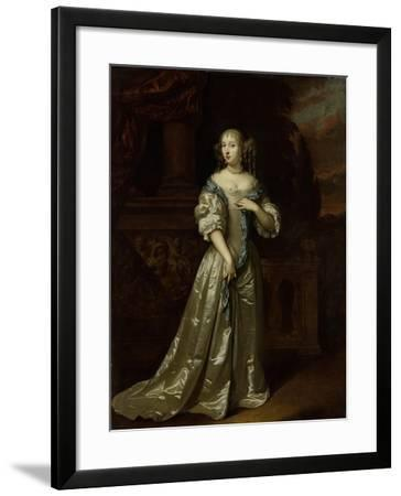 Portrait of Lady Philippina Staunton, Wife of Roelof Van Arkel, Lord of Burgst-Caspar Netscher-Framed Art Print