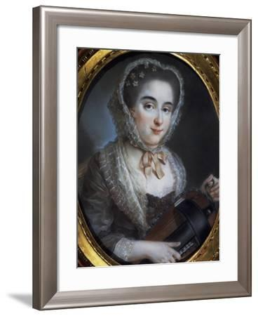 Portrait of Lady with Gironda--Framed Giclee Print